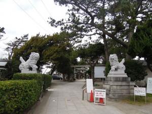 葉山森戸神社 参道