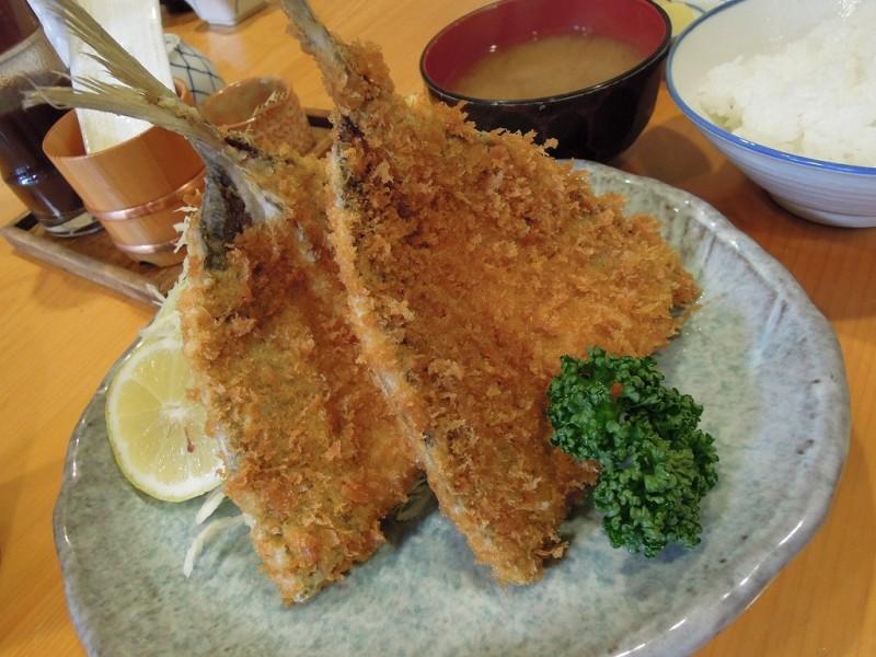 葉山 魚佐 アジフライ定食