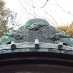 堀之内妙法寺 廿三夜堂 銅板屋根の瓦の兎