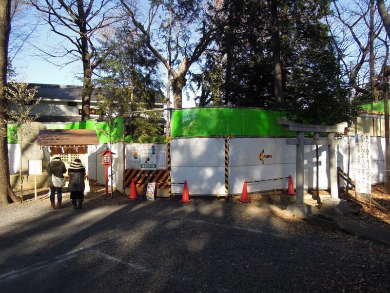 調神社 2014年 初詣 境内稲荷社工事中