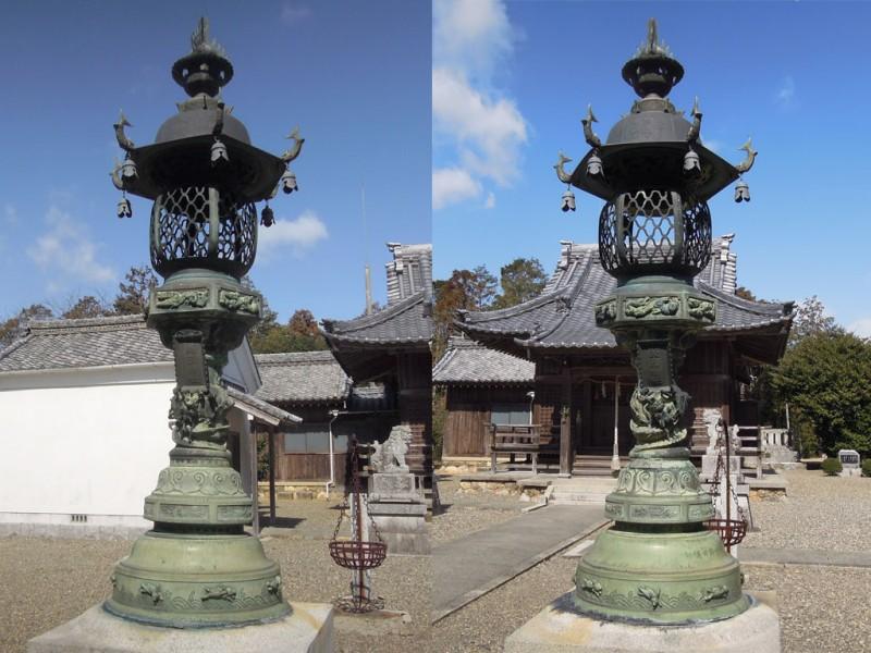 菟頭神社 鉄燈籠