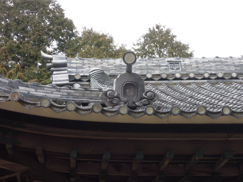 相楽神社(兎上神社) 瓦