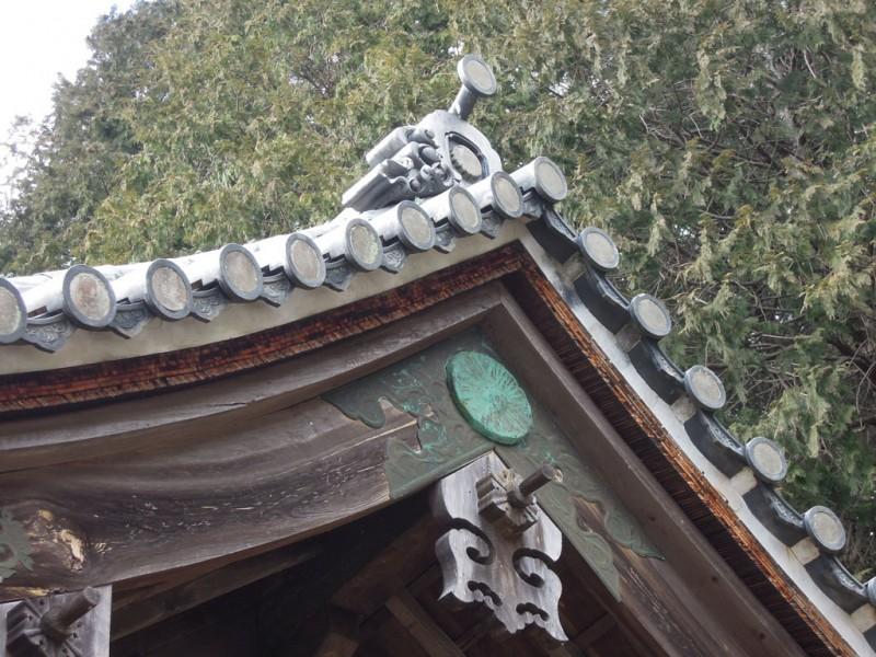 相良神社(兎上神社) 瓦