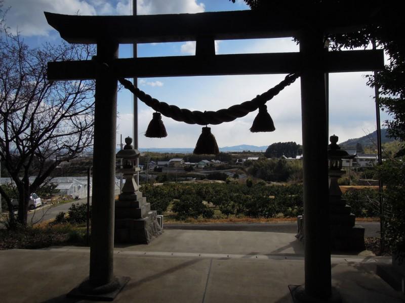 相楽神社(兎上神社) 鳥居