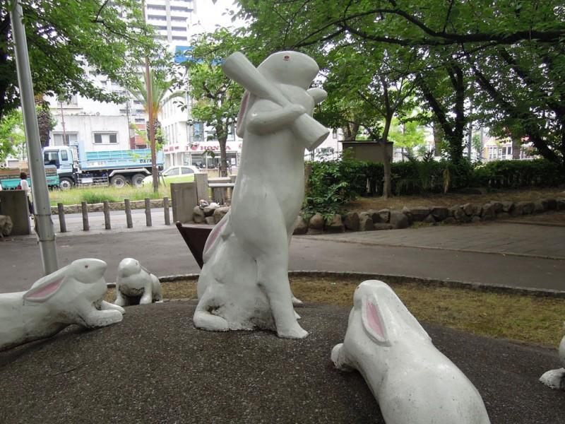 宿院頓宮 白夜の兎 群像