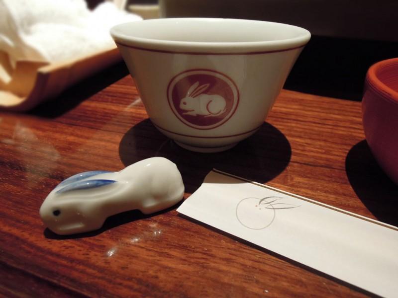 堺 美々卯 箸置 茶碗 箸袋