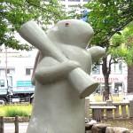 宿院頓宮 白夜の兎像