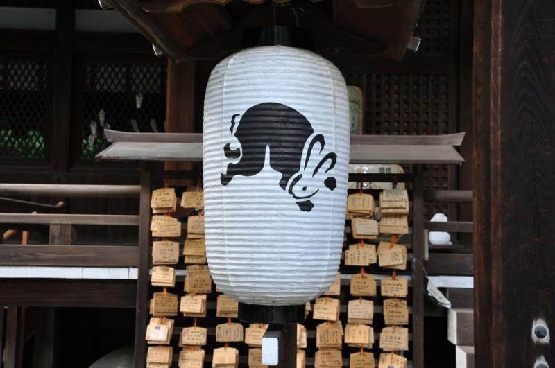 岡崎神社 拝殿 提灯
