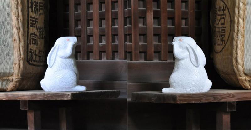 岡崎神社 脇の兎