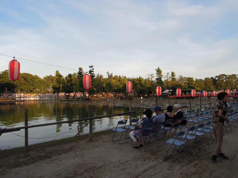 津島祭 天王川公園の池