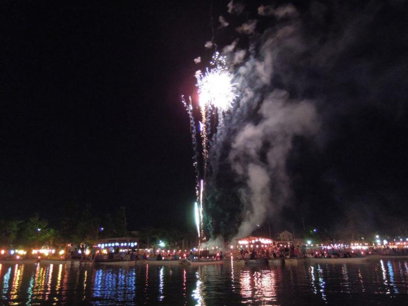 津島祭 宵祭 花火