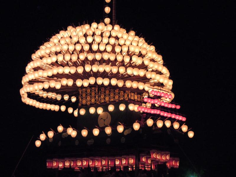 津島祭 宵祭 まきわら船
