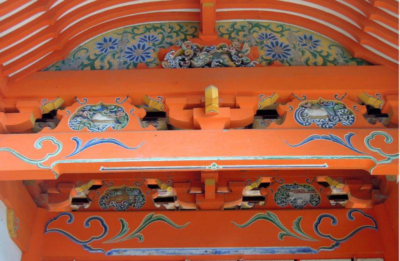 宇佐神宮 上宮 西大門 装飾