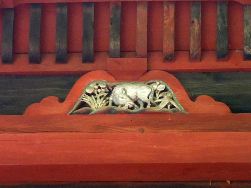 台方麻賀多神社 本殿 牛?