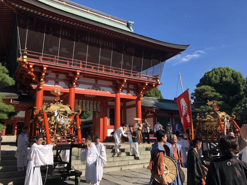 藤崎宮 例大祭 山門