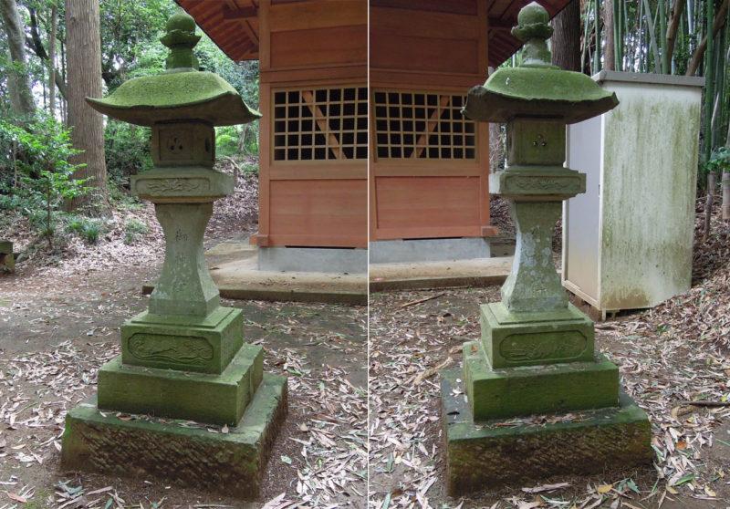星神社(大生城)灯籠