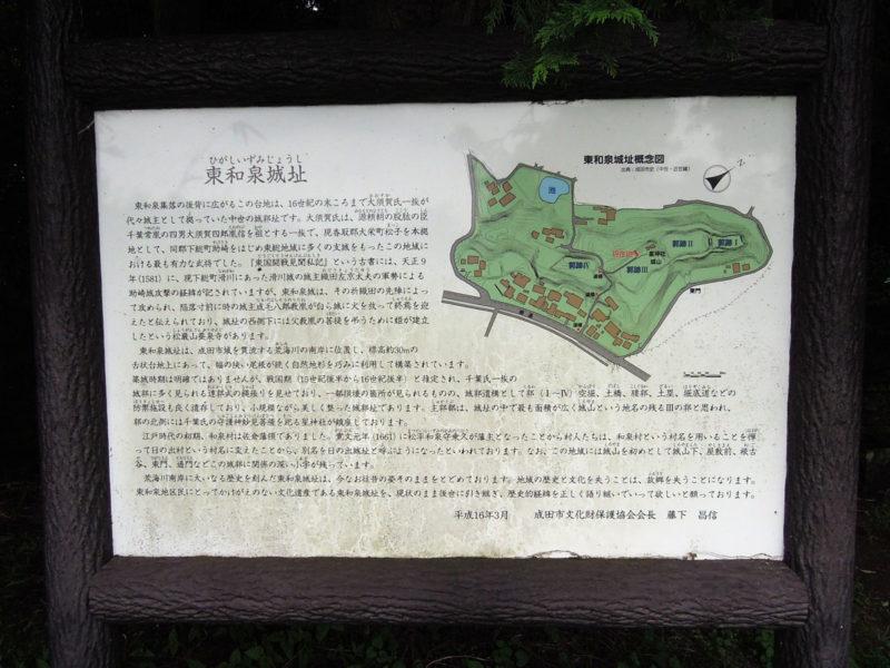 星神社(東和泉城)案内板