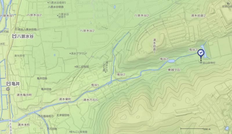 熊本 兎谷神社 地図