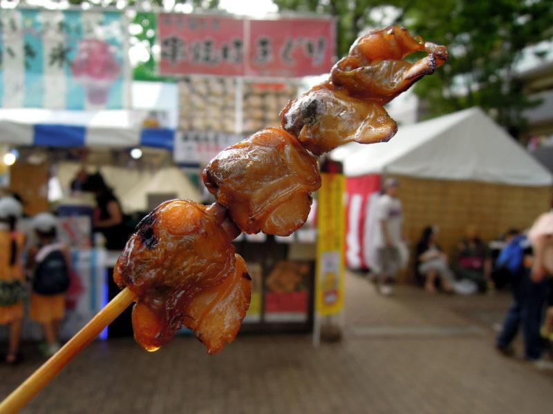 千葉 親子三代夏祭り 串焼きはまぐり