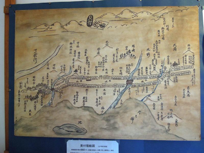 淡海國玉神社 旧見付学校 宿場古地図