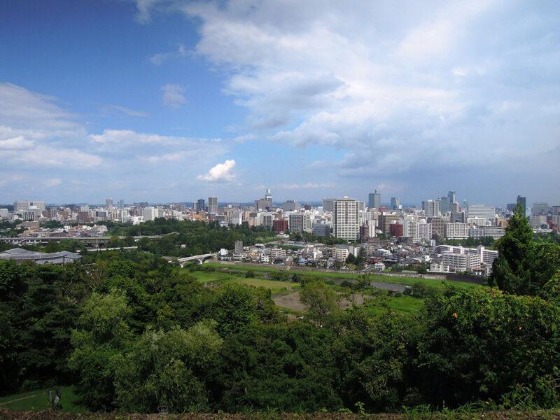 仙台 青葉城より仙台の街