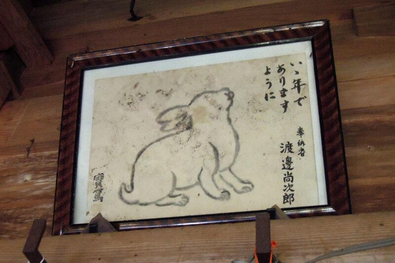 仙台 文殊堂 本堂 奉納兎絵