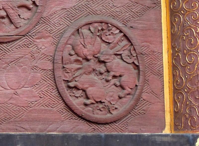 成田山新勝寺 三重塔 彫刻 兎