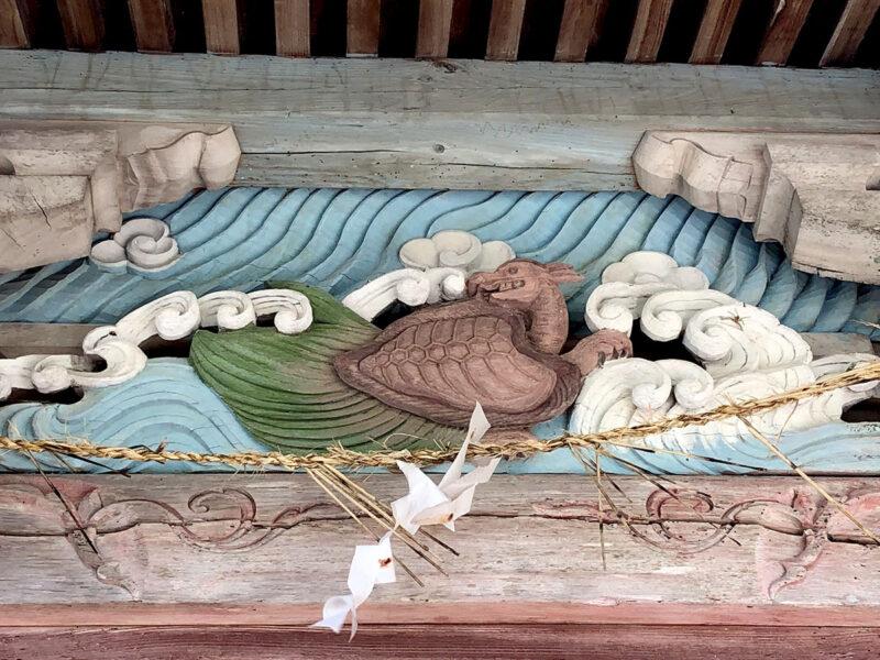 玉名山部田熊野座神社 亀